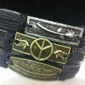 Jewelry - 3 leather  Bracelet